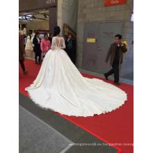 1A100C 2016 Combin Lace abierto de espalda palacio vestido de novia de verdadera imagen mostrar nupcial vestido de novia musulmán