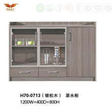 Hot Sale Melamine Coffee Cabinet with Glass Doors (H70-0712)
