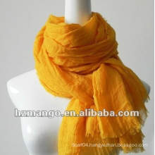 2016 latest fashion 100% modal solid color scarf with crincle