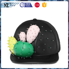 New coming strong packing fascinating amusing leaether bead fashion snapback hat 2016 caps and hats
