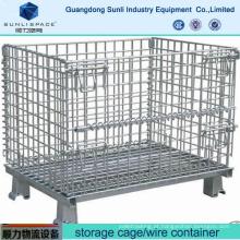 Recipiente de aço da gaiola do armazenamento da rede de arame do armazém