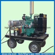 500bar haute pression humide sable eau plus propre Diesel Machine de nettoyage