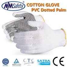 NMSAFETY pvc dotted glove cheap knitted cotton dotted gloves