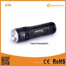 S15 Alto poder de alumínio poderoso LED tocha flexível Handheld LED Lights