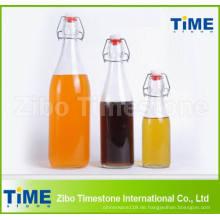 Großhandelsrunde Glastrinkwasser-Flasche