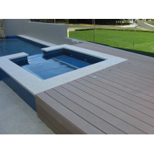 Wood Grain WPC Deck Flooring/Outdoor Decking Swimming Pool 140*25mm
