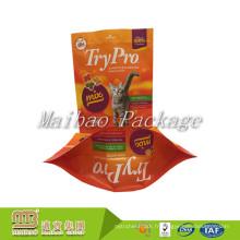 Économique adapté aux besoins du client imprimé Tenez le sac flexible en plastique stratifié d'emballage de fabricants d'aliments pour chats d'emballage