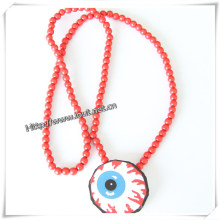 Wood Pendants Round Mixed Color Eye Pattern, Hottest (IO-wn006)