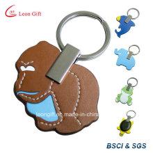 Из кожи материала животных Custom связки ключей