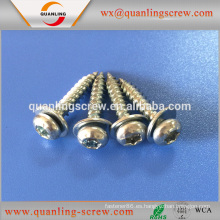 Venta por mayor china importación de cabeza troncocónica con arandela tornillo para muebles autorroscante