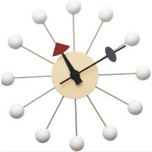 Réplique d'horloge murale boule blanche George Nelson