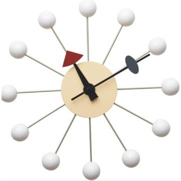 Réplica do relógio de parede de bola branca George Nelson