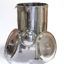 Mash Tun with Recirculation Fitting and Manway