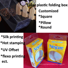 caja de empaquetado plástica de encargo de la fábrica del precio barato (caja plegable)