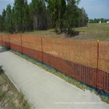 Barrière orange de barrière de HDPE