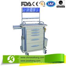 Carrinho de Anestesia de Alumínio e Aço Plástico