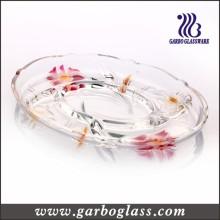 Assiette de verre élégante divisée