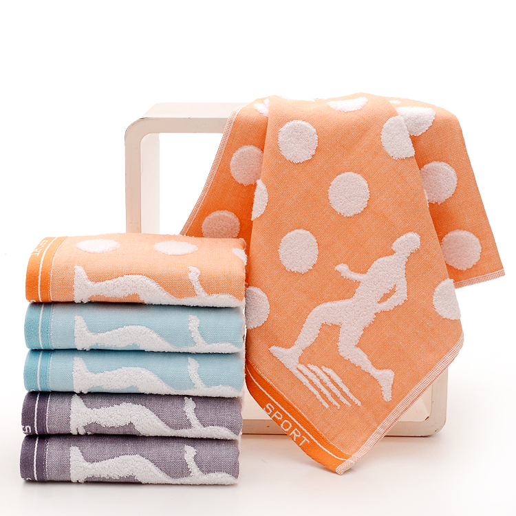 Orange Colored Gym Towels