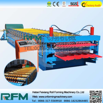 Double layer metal roofing sheet roll forming machine