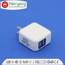 5V2a Adaptateur AC / DC 2USB Chargeur USB 10W pour nous Fiche UL FCC DOE VI approuvé