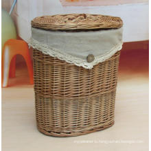 (BC-WB1020) High Quality Handmade Natural Willow Laundry Basket/Gift Basket