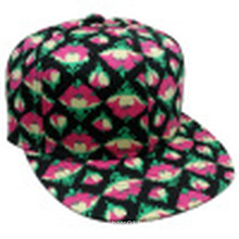 Floral Snapback Baseball Cap with Flat Peak Sb1592