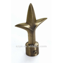 S48 metal pole spear finials for drapes and curtains