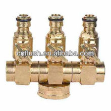 High quality of garden hose 3 Way hose splitters with valve