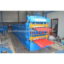 Machine à formage de rouleaux de tuiles glacés, machine à former des rouleaux de tuiles ondulés