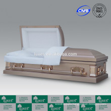 LUXES Wholesale American Style Metal Caskets For Cremation