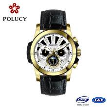 Пользовательские хронограф золото покрытием наручные часы для мужчин