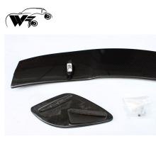 Único convés e traseira estilo W176 AMG estilo fibra de carbono Parte traseira tronco lábio spoiler
