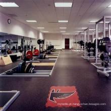 O Fabricante de Piso de Telha de Borracha Barato Profissional para Indoor / Outdoor Ginásio / Fitness Club