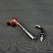 Hand Made Long Ebony Made Cheap Tobacco Smoking Pipe