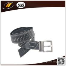 Cinturón de cuero puro de alta calidad de las correas en relieve