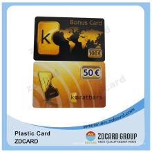 Plastic Supermarket Reward Card Company Bonus Card for Staff