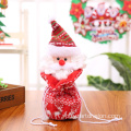 Merry Christmas Decor Linen Christmas Drawstring Gift Candy Bags