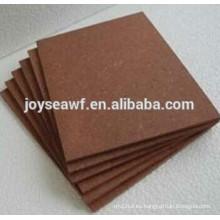 Tablero de madera de alta densidad 1220X2440x2.6mm marrón de alta densidad