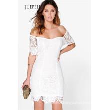 Crochet off Shoulder Lace Women Dress
