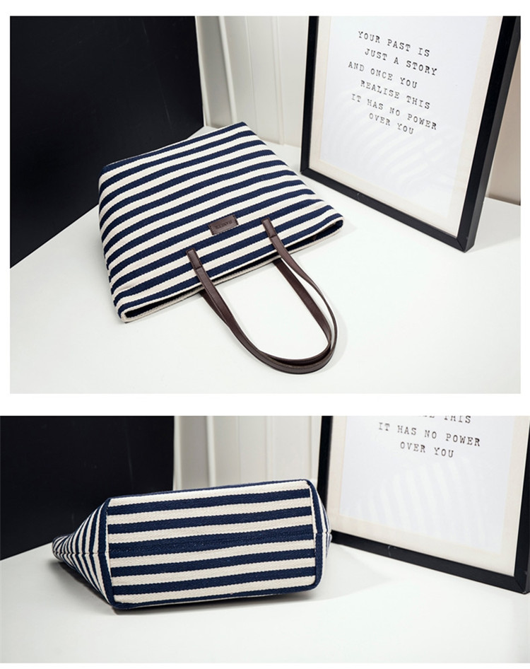 Stripe Canvas Handbag