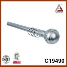 C19490 finials de la barra de la cortina del cromo de la suposición, accesorios simples de la barra de la cortina del carril del doble