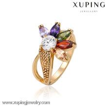 13270 Encantos al por mayor Xuping Fashion Woman 18K Gold -Plated Flower