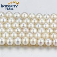 Décoration Eau douce Élastique à perles 7mm AA- Cordon à perles rondes blanches