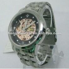 Mode automatische Uhren, Männer Edelstahl Uhren 15036