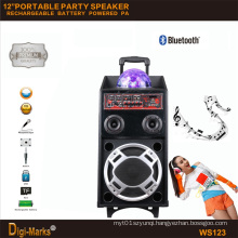 12′′ Mobile Party DJ LED Karaoke Trolley Bluetooth Active Speaker