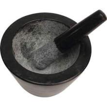 Mortar and Pestle Set Made of Solid Granite