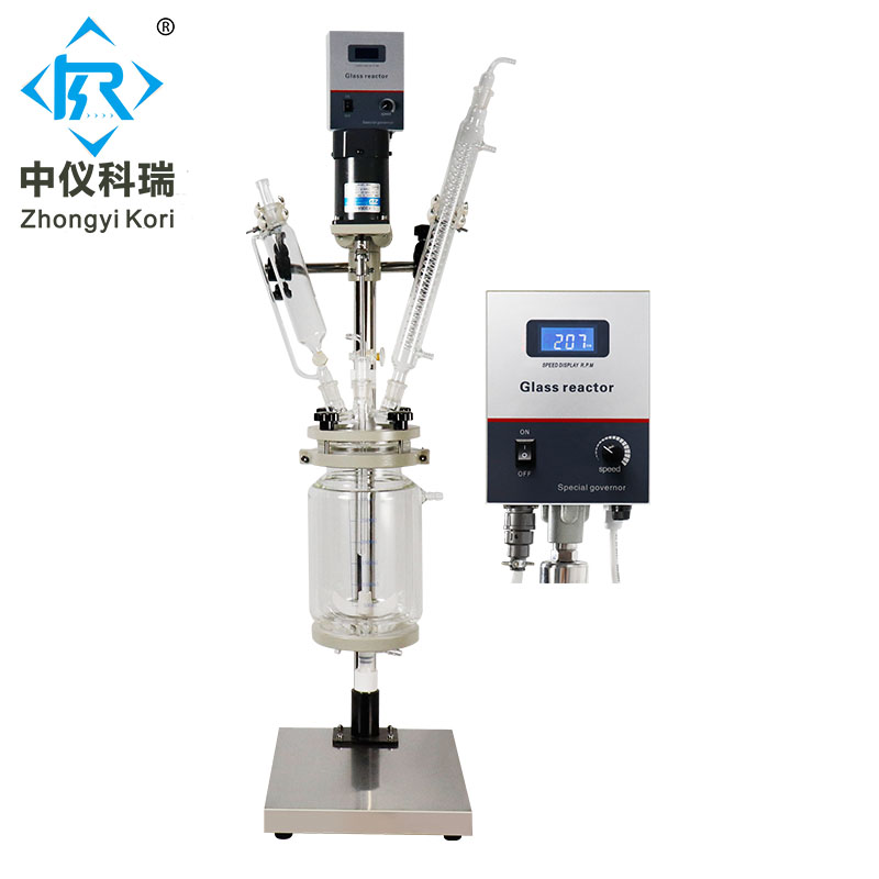 Laboratory Jacketed Glass Reactor 1-200L with borosilicate glass 3.3 Stainless Steel Double layer Glass Reaction kettle