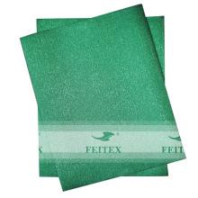 Partie de vente au détail de tissu de sego de headtie africain 2pcs / set de couleur pure de mode
