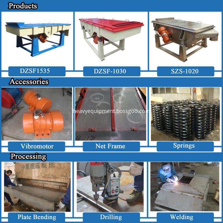 High Frequency China Quartz Sand Linear Vibrating Screen