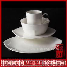Vajilla real de la porcelana 4pcs, vajilla de cerámica